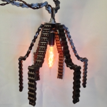 Sculpted Chain Lampshade