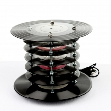 Vintage Vinyl Record Lamp, Single Stack