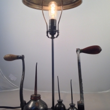 Industrial Jewelry Holder Lamp