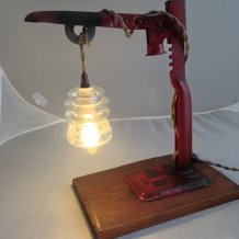 """POP!"" Vintage Bottle Capper Lamp"