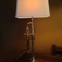 Trumpet Lamp with Shade